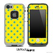 Polka Dotted Blue and Yellow V3 Skin for the iPhone 5 or 4/4s LifeProof Case