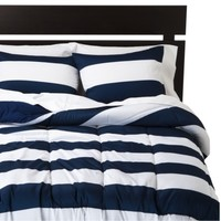 Room Essentials® Rugby Comforter - Blue/White