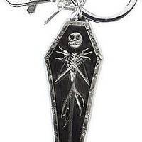 Nightmare Before Christmas Jack in Coffin Pewter Key Ring