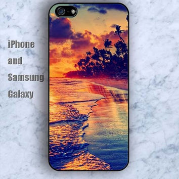 Tourist Scenery Beach iPhone 5/5S Ipod touch Silicone Rubber Case, Phone cover