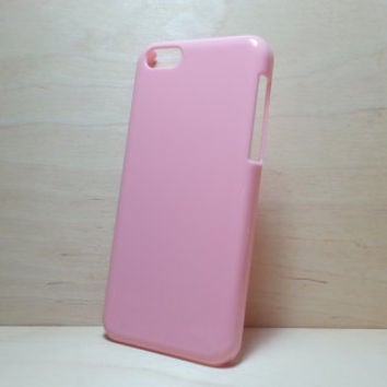 iphone 5c hard plastic case - Light Pink (for decoden phone case)