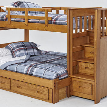 New Sibley Twin over Full Stairway Bunk Bed
