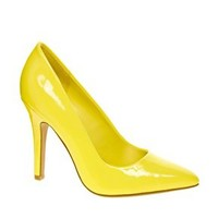 New Look Ride 2 Yellow Heeled Shoes at asos.com