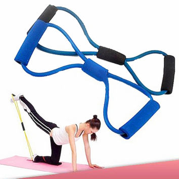 8 Shaped Training Resistance Bands Rope Tube Workout Exercise for Yoga Sports Body Fitness Equipment Tool RB01