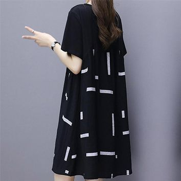 Fashion Splicing Round Collar Dress