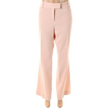 Tahari ASL Womens Marina Flat Front Slit Pockets Dress Pants