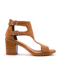 2 Buckle Cut-Out Sandal