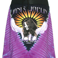 Janis Joplin Kozmic Blues Tie Dye T-Shirt Skirt