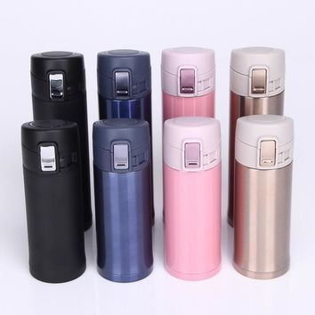 4 Colors Fashion Stainless Steel Vacuum Cup Garrafa Termica Thermos  Thermo Mug Travel Thermocup Coffee Mugs