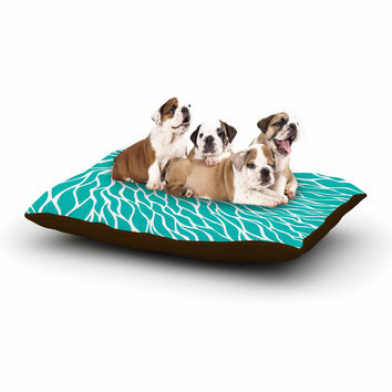 "NL Designs ""Swirls Tiffany"" Teal White Dog Bed"