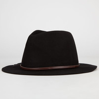 Boho Felt Womens Fedora Black One Size For Women 24516010001