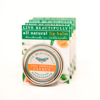 Cool Tropical Citrus - All Natural Lip Balm Tin