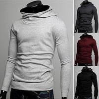 High Neck Long Sleeve Sweatshirt