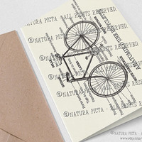 Anatomie d'une bicyclette Greeting Card-4x6 in card-Invitation card-Bicycle card-Stationery Card-Thank you card-Design NATURA PICTA NPGC074