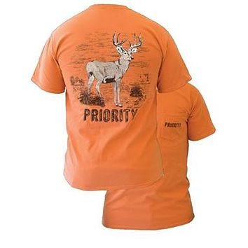 Southern Couture High Priority Whitetail Deer Hunt Country Pocket Unisex Bright T Shirt
