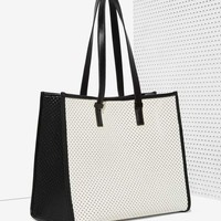 Charlize Perforated Tote Bag