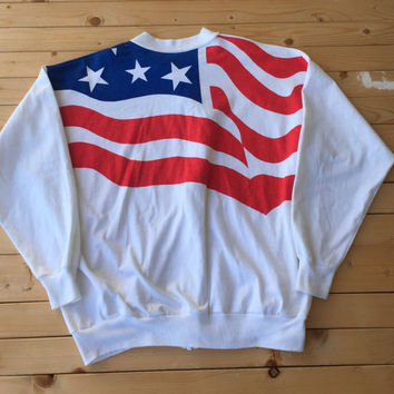 American Flag USA Jacket Zipper TShirt Unisex July Summer Fireworks Vintage Clothing Tshirt America