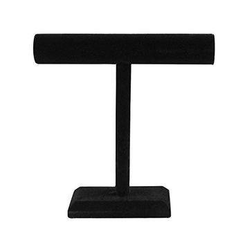 Black Velvet Necklace Bracelet T-Bar Jewelry Display Stand Tower for Home Organization by Super Z Outlet®