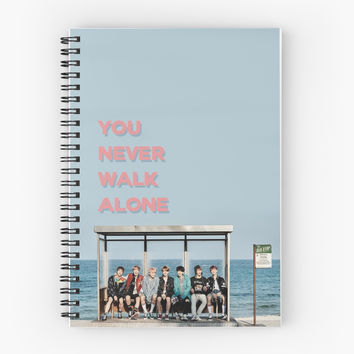 'BTS YOU NEVER WALK ALONE' Spiral Notebook by jellycactus