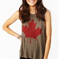Maple Leaf Muscle Tee