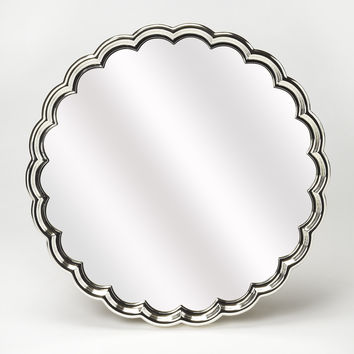 Butler Moira Silver Scalloped Wall Mirror 4307285