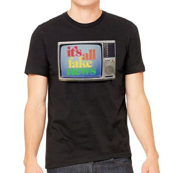 It's All Fake News Graphic T-Shirt
