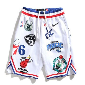 Nike Jordan X Supreme New Popular Women Men Casual Embroidery Sport Basketball Shorts White I13124-1