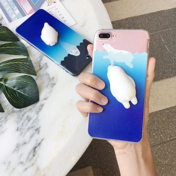 3D Squishy Protective Phone Case For iPhone 6 6S 7 Plus