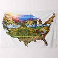 Allover USA Landscape Tapestry