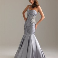one shoulder mermaid Long with Sequins Prom Dress PD0905