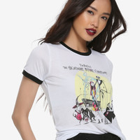 The Nightmare Before Christmas Halloween Town Tour Girls Ringer T-Shirt
