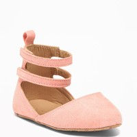 Sueded Pointy-Toe Ballet Flats for Baby old-navy