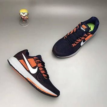 """NIKE"" Fashion Casual Multicolor Knit Fly Line Sneakers Men Running Shoes"