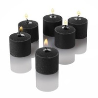 Set of 24 Richland Votive Candles Black Unscented
