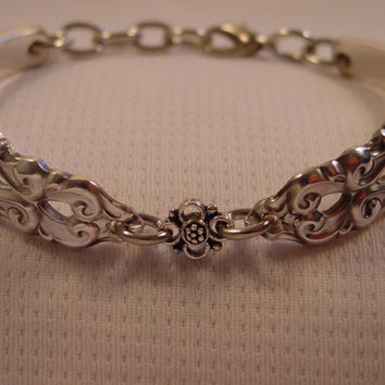A Pretty Spoon Bracelet With Cute Charm Handmade Spoon and Fork Jewelry b103