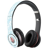 Soft Chateau Blue Damask Skin  for the Beats Solo HD by skinzy.com