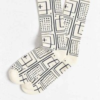 OBEY Riviera Jacquard Sock- Cream One