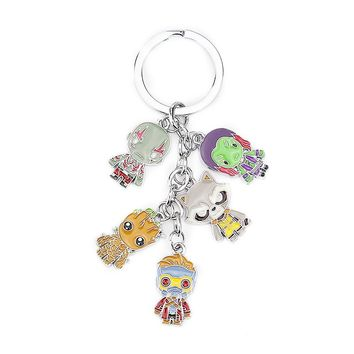 Guardians of The Galaxy Team Keychain