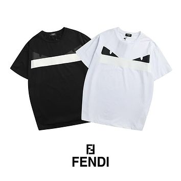 FENDI Woman Men Fashion Print Tunic Shirt Top Blouse