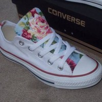 SALE!!! Floral Converse Shoes