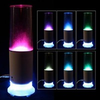 Touch Sensor LED Water USB Mood Lamp Night Light Speaker