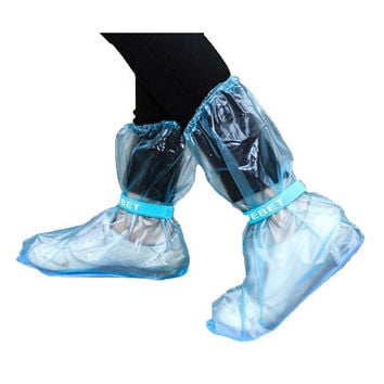 Outdoor Long Style Raincoat Set Cycle Rain Boots Overshoes Rainboots Travel Essentials High Quality Waterproof Rain Shoes Cover.