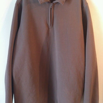 Croft&Barrow Men's long sleeve 1/4 zippered shirt. XL