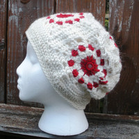 Granny Slouch crochet slouch hat back to school slouchy, ready to ship.