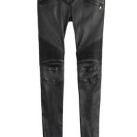 Balmain - Leather Biker Pants