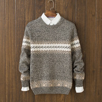 Casual Mens Comfortable Winter Warm Slim Fit Ethnic Sweater