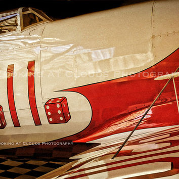 airplane art, aviation photography, Gee Bee, vintage aviation art photo, airplane decor, red white, pilot gift, vintage airplane, boys room