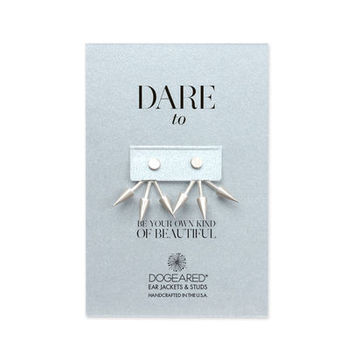 dare to... spike earring jacket, sterling silver - Dogeared
