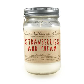 Strawberries & Cream - 16oz Soy Candle