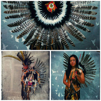 Native American Clothing, Indian Clothing, Turkey Feather Wings, Native American Costume, postapocalyptic, steampunk, nocturnal, mad max
